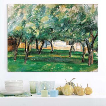 Quadro in vetro - Paul Cézanne - Fattoria in Normandia - Impressionismo - Orizzontale 4:3