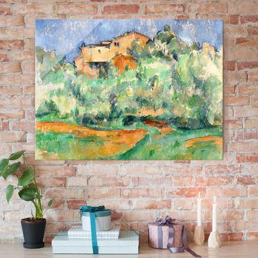 Quadro in vetro - Paul Cézanne - Cascina di Bellevue con Colombaia - Impressionismo - Orizzontale 4:3