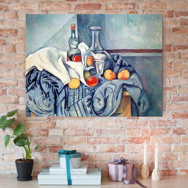 Quadro su vetro - Paul Cézanne - Natura morta con Bottiglia di Liquore alla Menta - Impressionismo - Orizzontale 4:3