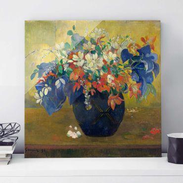Quadro su vetro - Paul Gauguin - Fiori in un Vaso - Post-Impressionismo quadrato 1:1