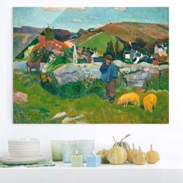 Quadro in vetro - Paul Gauguin - Il Guardiano di Porci - Post-Impressionismo - Orizzontale 4:3
