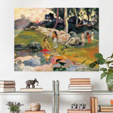 Quadro in vetro - Paul Gauguin - Donna sulle rive del fiume - Post-Impressionismo - Orizzontale 4:3