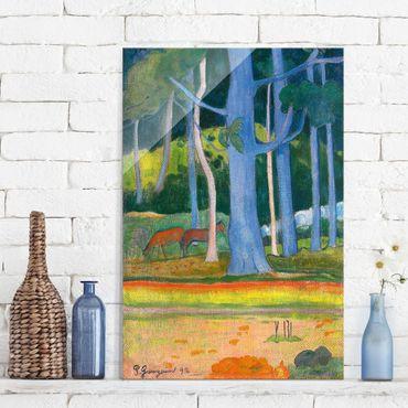 Quadro su vetro - Paul Gauguin - Paesaggio con Pantaloncini blu - Post-Impressionismo - Verticale 2:3