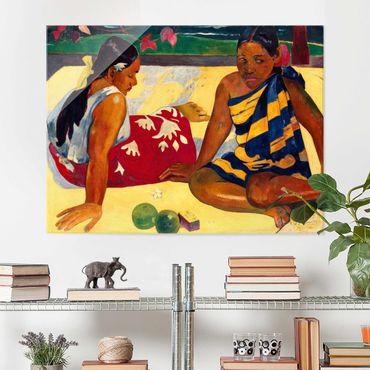 Quadro in vetro - Paul Gauguin - Parau Api (Due donne tahitiane) - Post-Impressionismo - Orizzontale 4:3