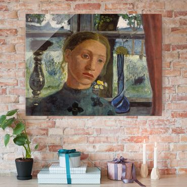 Quadro in vetro - Paula Modersohn-Becker - Girl's Head in Front of a Window - Orizzontale 4:3