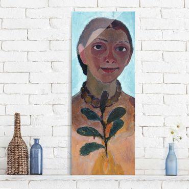 Quadro su vetro - Paula Modersohn-Becker - Self-Portrait with Camellia Twig - Pannello