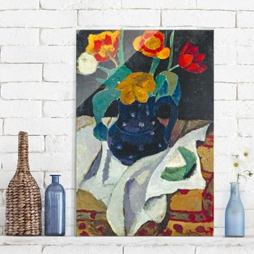 Quadro in vetro - Paula Modersohn-Becker - Still Life with Tulips - Verticale 2:3