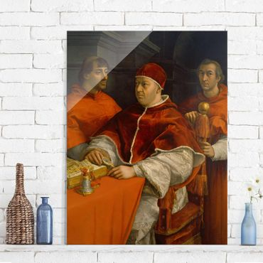 Quadro in vetro - Raffael - Portrait of Pope Leo X - Verticale 3:4