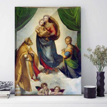 Quadro in vetro - Raffael - The Sistine Madonna - Verticale 3:4