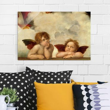 Quadro in vetro - Raffael - Two Angels. Detail from The Sistine Madonna - Orizzontale 3:2
