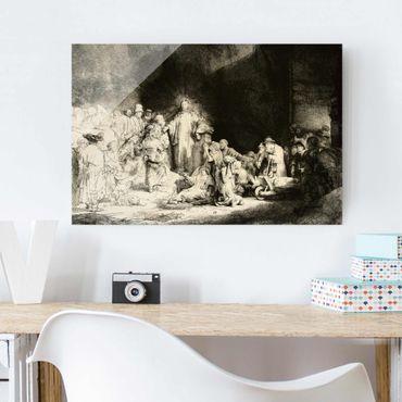 Quadro in vetro - Rembrandt van Rijn - Christ healing the Sick. The Hundred Guilder - Orizzontale 3:2