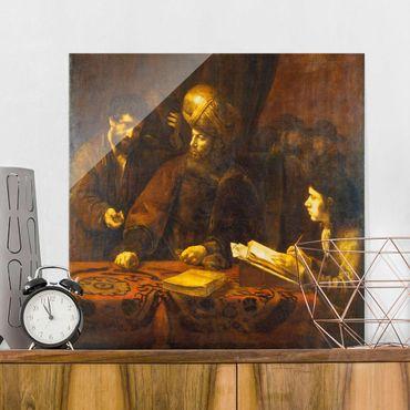 Quadro su vetro - Rembrandt van Rijn - The Workers in the Vineyard - Quadrato 1:1
