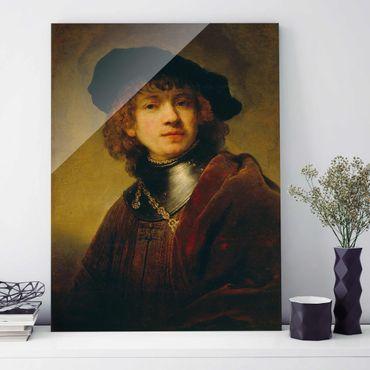 Quadro in vetro - Rembrandt van Rijn - Self-Portrait - Verticale 3:4