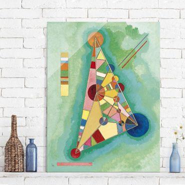 Quadro in vetro - Wassily Kandinsky - Colorato nel Triangolo - Espressionismo - Verticale 3:4