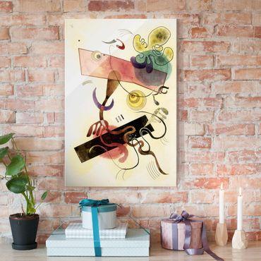 Quadro in vetro - Wassily Kandinsky - Taches: Verte et Rose (Macchie: Verde e Rosa) - Espressionismo - Verticale 2:3