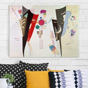 Quadro in vetro - Wassily Kandinsky - Accordo reciproco - Espressionismo - Orizzontale 4:3