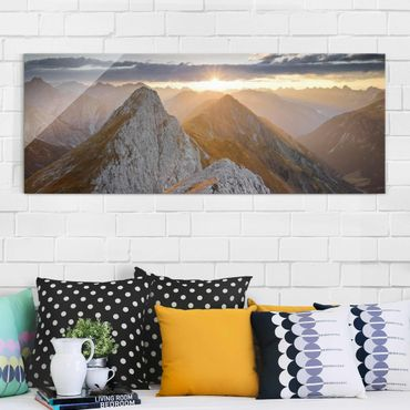 Quadro in vetro - Lechtal Alps - Panoramico