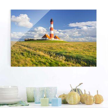 Quadro su vetro - Lighthouse in Schleswig-Holstein - Orizzontale 3:2