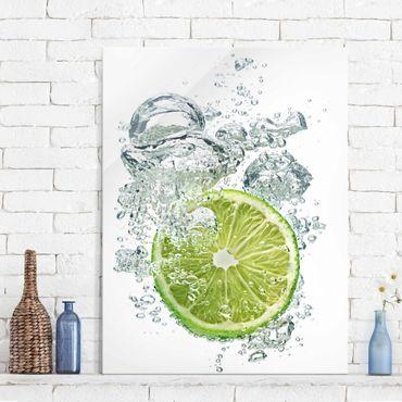 Quadro in vetro - Lime Bubbles - Verticale 3:4