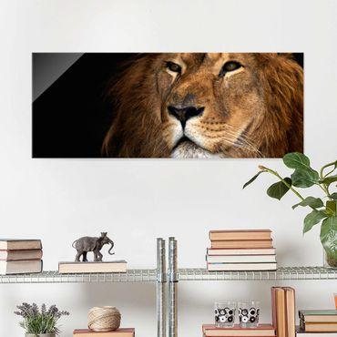 Quadro in vetro - Lions View - Panoramico