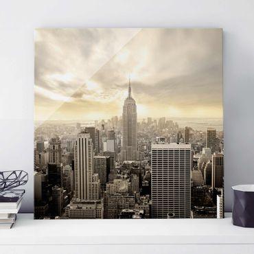 Quadro in vetro - Manhattan Dawn - Quadrato 1:1