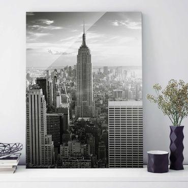 Quadro in vetro - Manhattan Skyline - Verticale 3:4