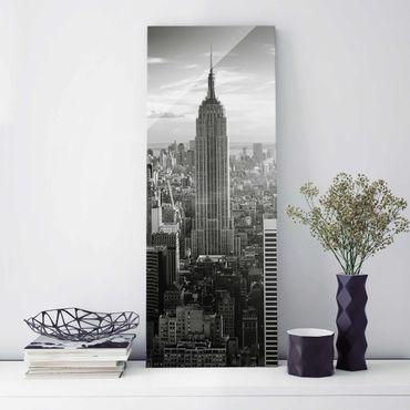Quadro in vetro - Manhattan Skyline - Pannello