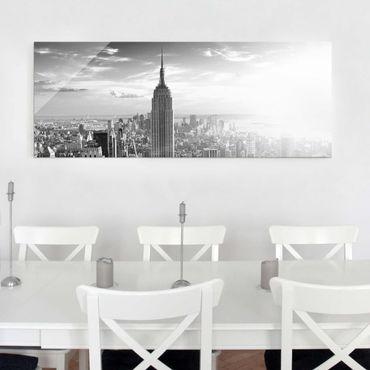 Quadro in vetro - Manhattan Skyline - Panoramico