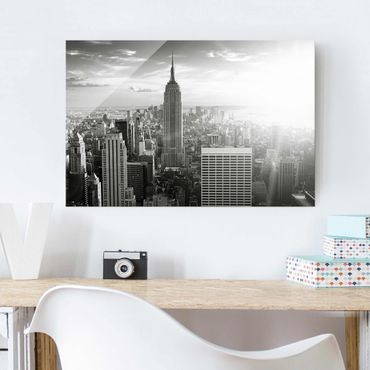 Quadro in vetro - Manhattan Skyline - Orizzontale 3:2