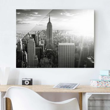 Quadro in vetro - Manhattan Skyline - Orizzontale 4:3