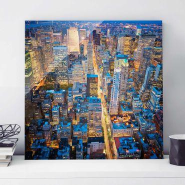Quadro in vetro - Midtown Manhattan - Quadrato 1:1