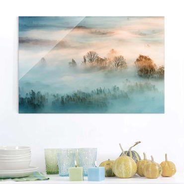 Quadro in vetro - Fog At Sunrise - Orizzontale 3:2