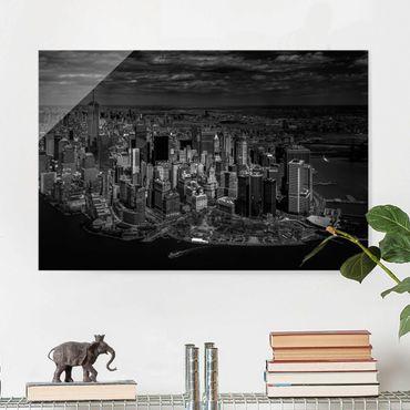 Quadro in vetro - New York - Manhattan da The Air - Orizzontale 3:2