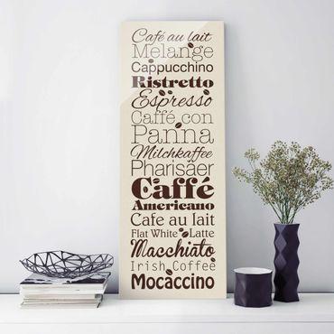 Quadro in vetro - No.EV64 coffee specialty Creme - Pannello