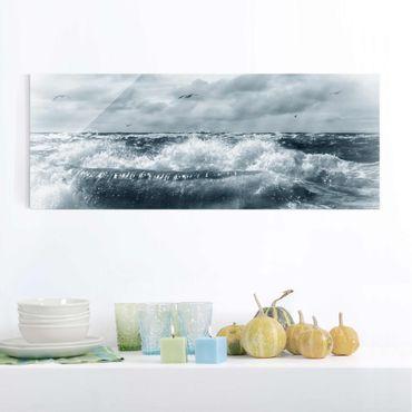 Quadro in vetro - No.YK6 Living North Sea - Panoramico