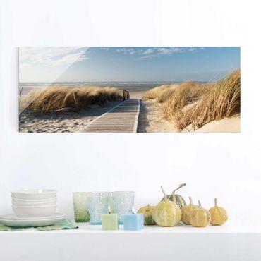 Quadro in vetro - Baltic beach - Panoramico