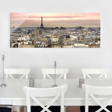 Quadro in vetro - Paris close - Panoramico