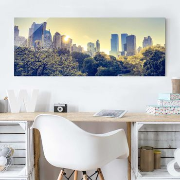 Quadro in vetro - Peaceful Central Park - Panoramico