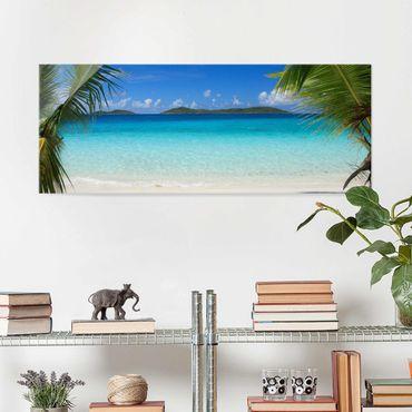 Quadro in vetro - Perfect Maledives - Panoramico