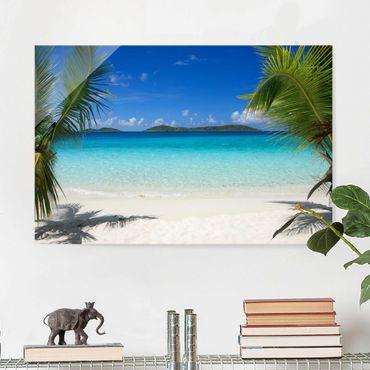 Quadro in vetro - Perfect Maledives - Orizzontale 3:2