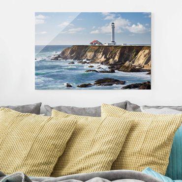 Quadro in vetro - Point Arena Lighthouse California - Orizzontale 3:2