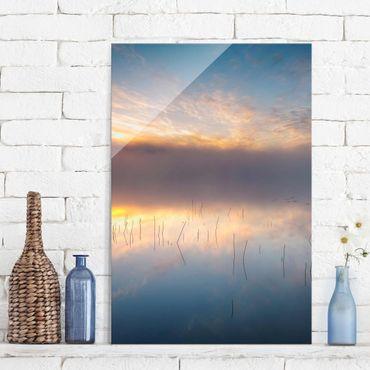 Quadro in vetro - Alba Lago svedese - Verticale 2:3