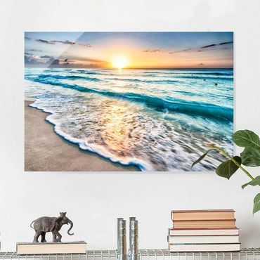 Quadro in vetro - Sunset At The Beach - Orizzontale 3:2