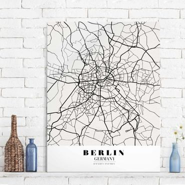 Quadro in vetro - Berlin City Map - Classic - Verticale 3:4