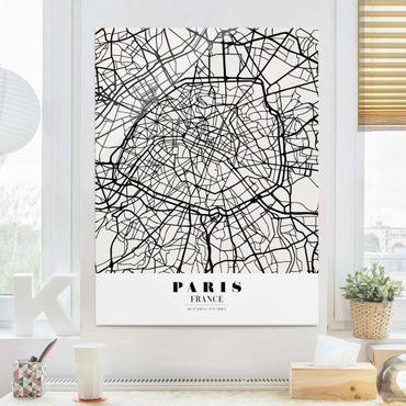 Quadro in vetro - Paris City Map - Classic - Verticale 3:4