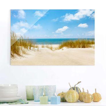 Quadro in vetro - Beach at the North Sea - Orizzontale 3:2