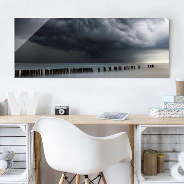 Quadro in vetro - Nubi di tempesta sul Mar Baltico - Panoramico
