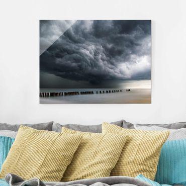 Quadro in vetro - Nubi di tempesta sul Mar Baltico - Large 3:4