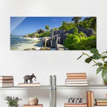 Quadro in vetro - Dream beach Seychelles - Panoramico
