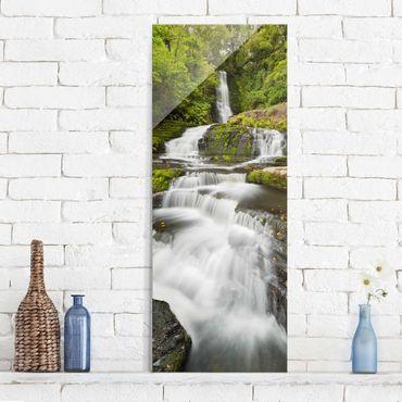 Quadro in vetro - Upper Mclean Falls In New Zealand - Pannello